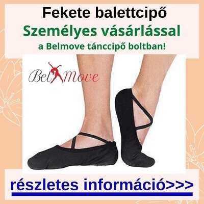 Több méretben fekete balettcipő vásárlás a táncszaküzletben személyesen