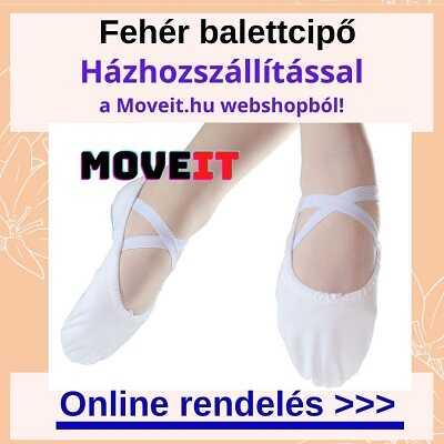 Több méretben fehér balettcipő webshop rendelés online, kiszállítással