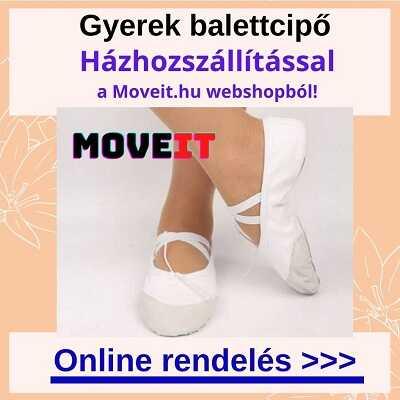 Több méretben gyerek balettcipő online vásárlás, futáros kiszállítással