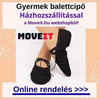 Több méretben gyermek balett cipő online rendelés, futáros kiszállítással