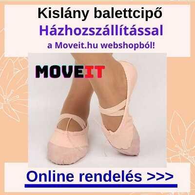 Több méretben kislány balettcipő vásárlás online, futáros kiszállítással