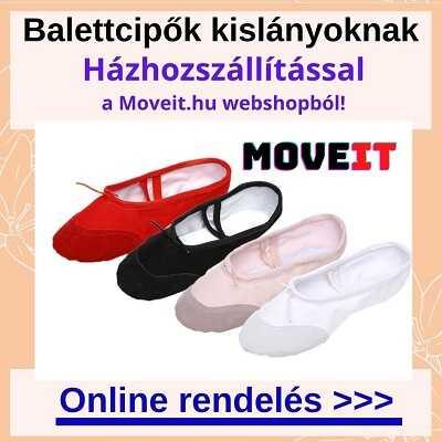 Több méretben balett cipő kislányoknak rendelés online, futáros kiszállítással