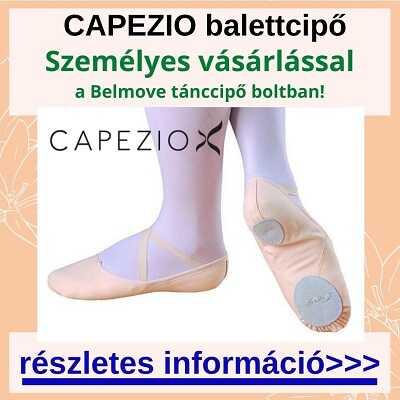 Több méretben Capezio balett cipő vásárlás a táncszaküzletben személyesen