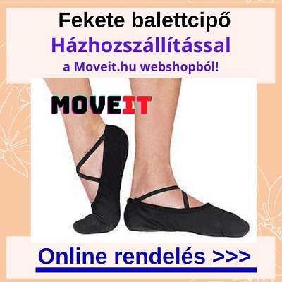 Több méretben fekete balettcipő webshop rendelés online, kiszállítással